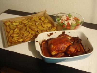 Pečené kukuričné kura v božskej Jamieho barbecue marináde