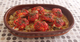 Bacallà al forn amb patates