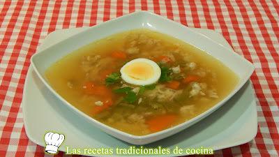 Receta fácil de sopa de pollo