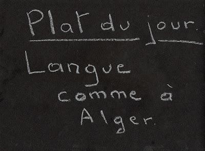 Langue comme à Alger.