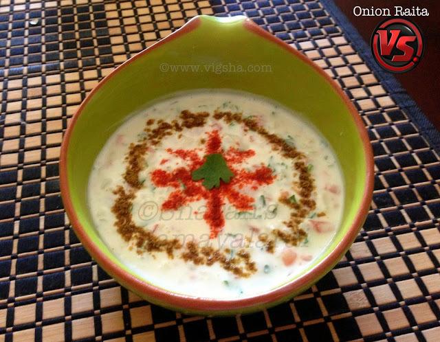 Onion Tomato Raita / வெங்காய பச்சடி