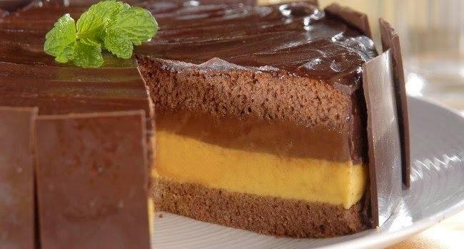 Bolo Duplo de Maracujá com Chocolate