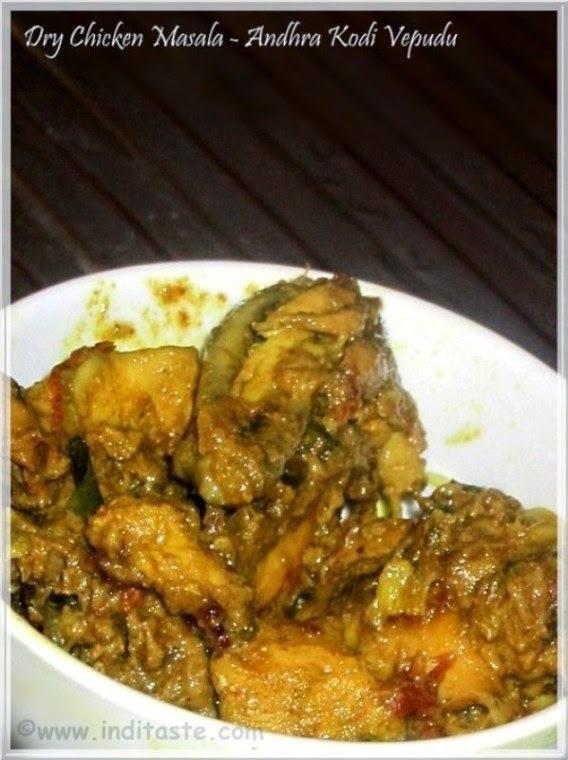 Dry Chicken Masala | Andhra Chicken Varuval | Kodi Vepudu