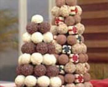 Árvore de Natal com Bombons de Chocolate