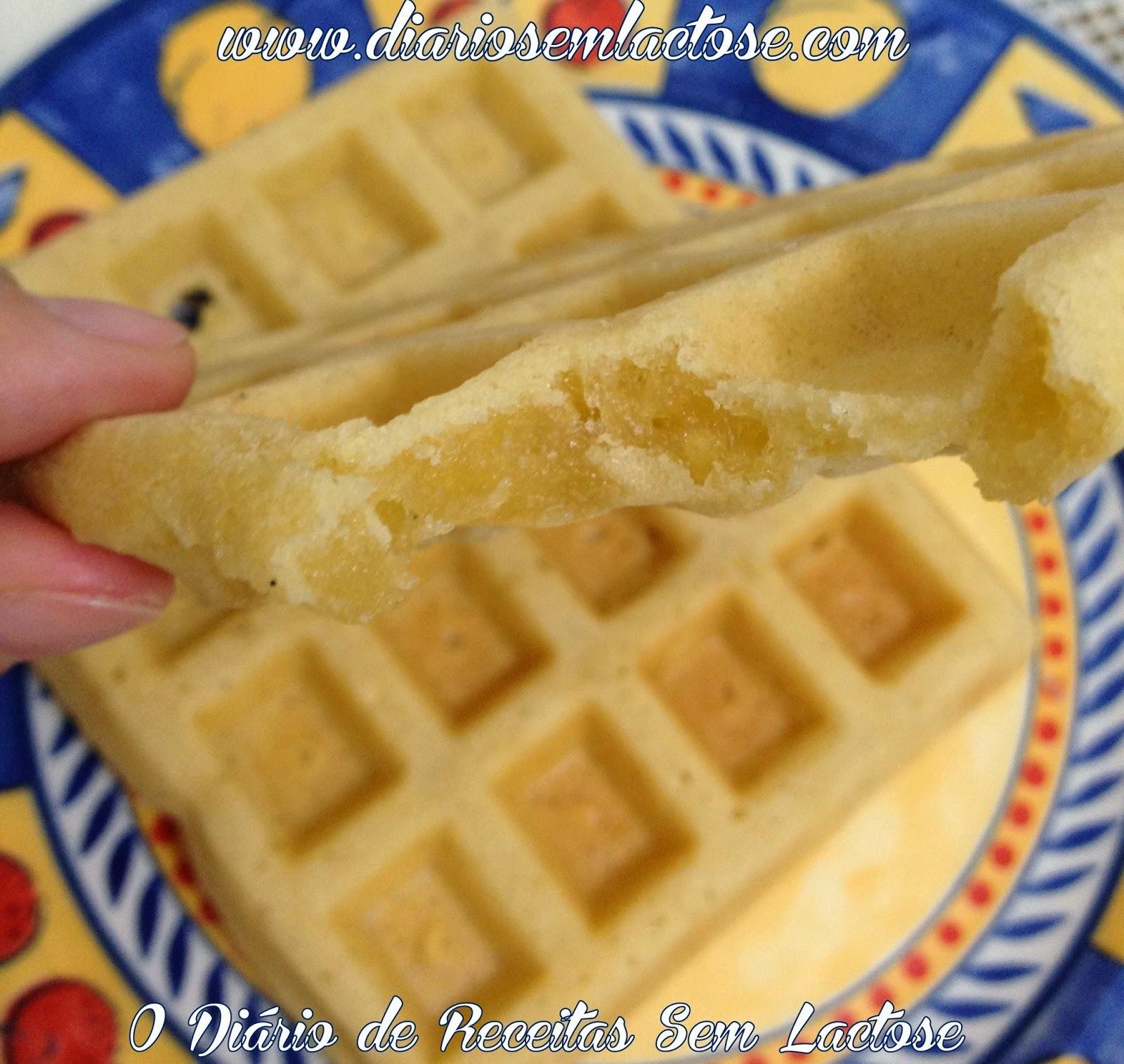 Waffle Doce e Salgado Sem Glúten e Sem Leite