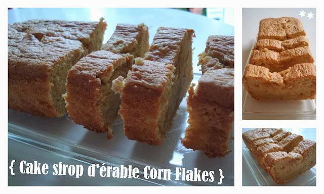 Cake moelleux au sirop d'érable et aux Corn Flakes