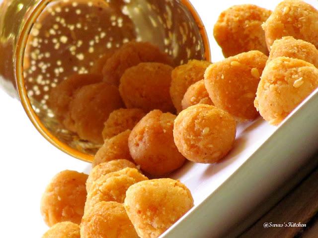 Uppu seedai / Rice crisp balls