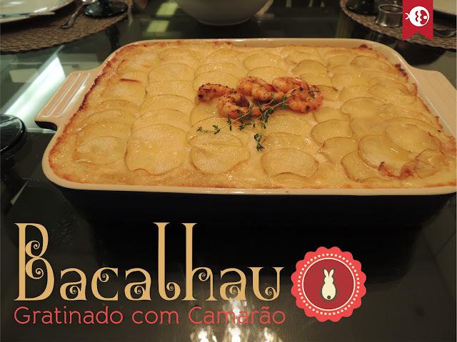 bacalhau gratinado com batatas facil e rapido