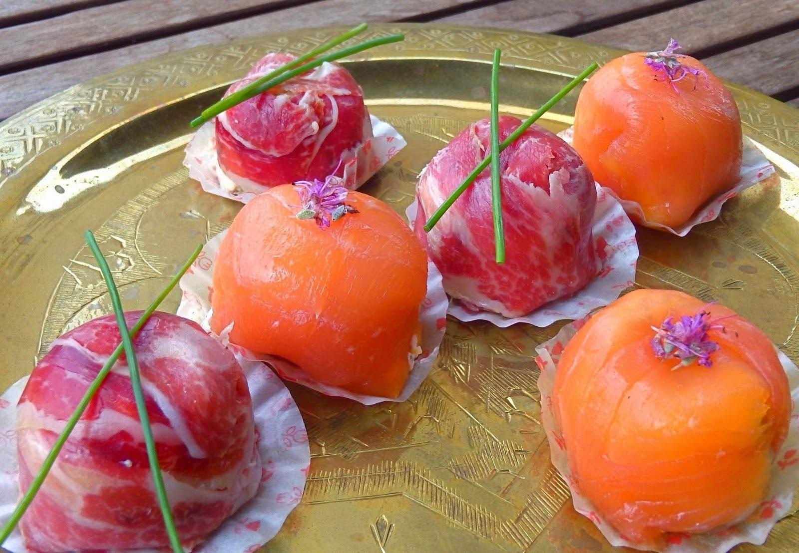 Aperitiu de Nadal: Bombons de salmò fumat - Aperitivo de Navidad: bombones de salmón ahumado