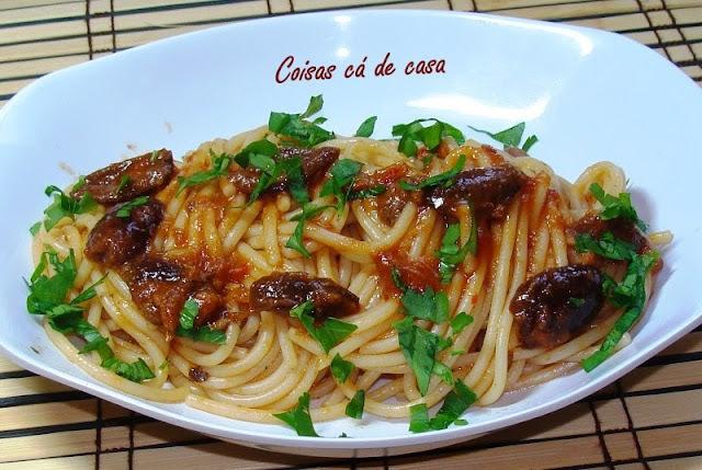 Espaguete com Aliche