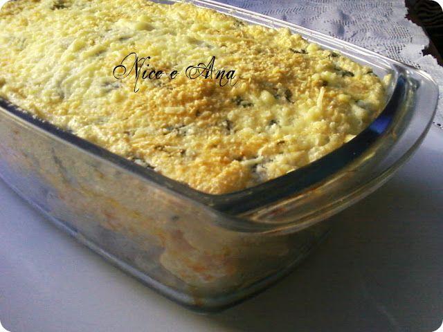 macarrão no forno com creme de cebola