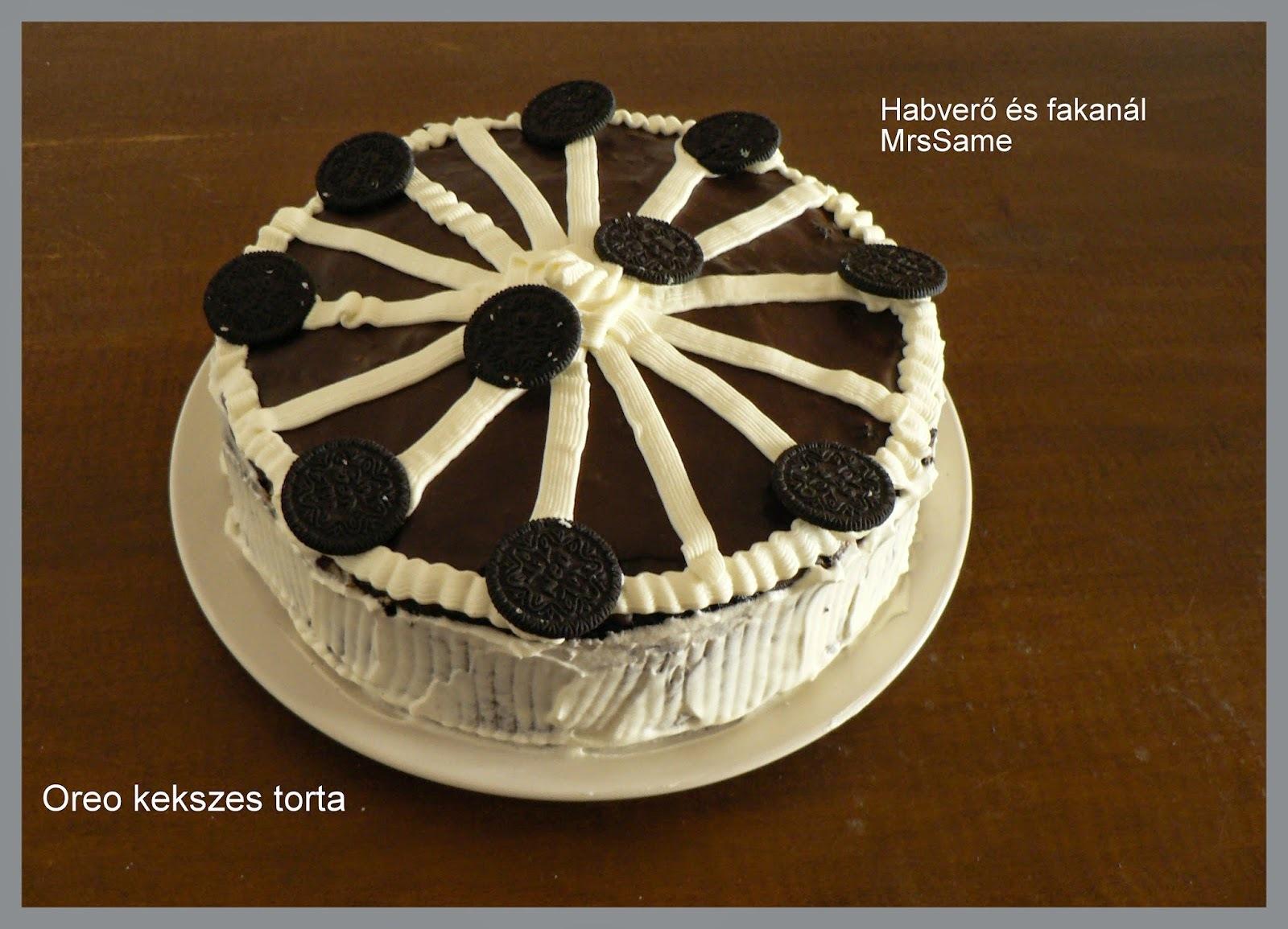 Oreo kekszes torta - Levente 5. születésnapjára