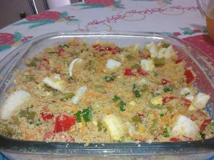 Farofa Molhadinha de Legumes