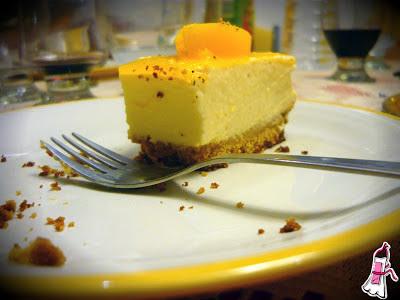 Cheesecake de duraznos (sin horno) para los cumples de verano!
