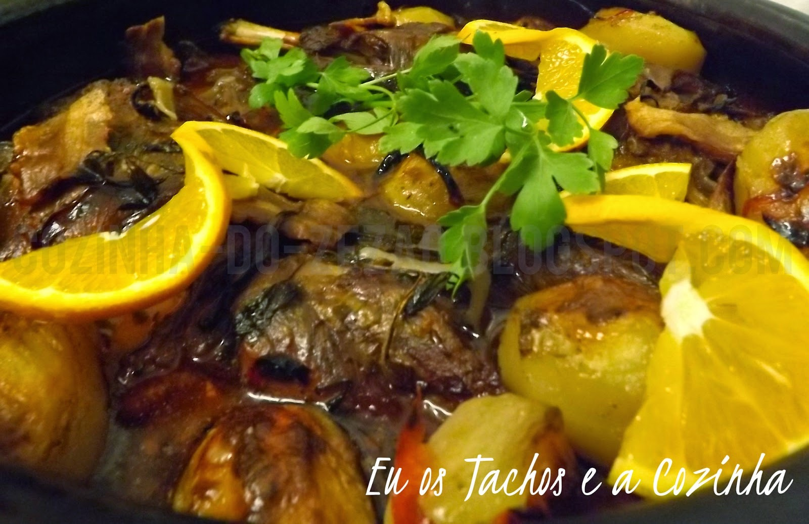 Lombo de porco ibérico ao forno à La laranja