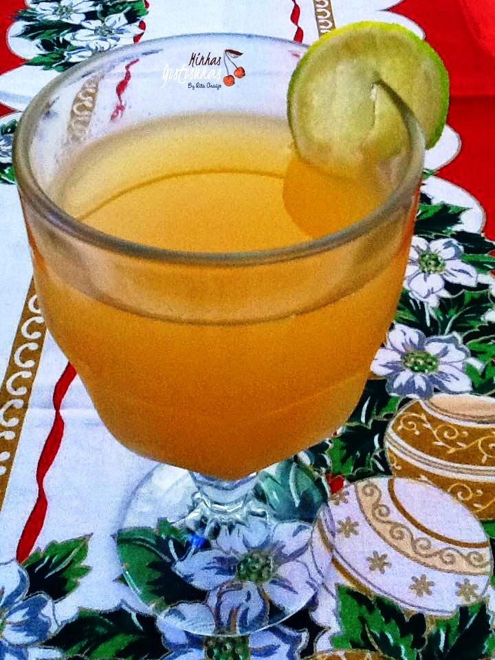 Suco de Cerejas com Limão e Gengibre