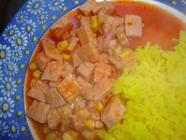 Entrecot de cerdo en salsa de chipotle