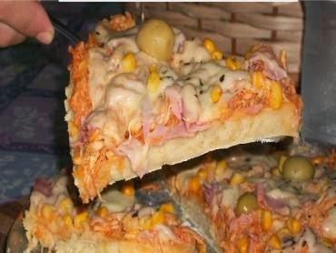 Pizza de liquidificador fácil e rápida
