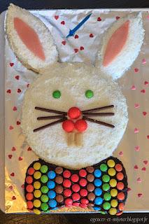 Gâteau d'anniversaire lapin chocolat-coco