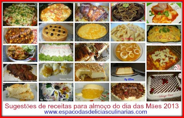 Sugestões para almoço do dia das mães 2013