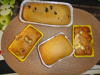 Bolo pão de mel com passas e banana
