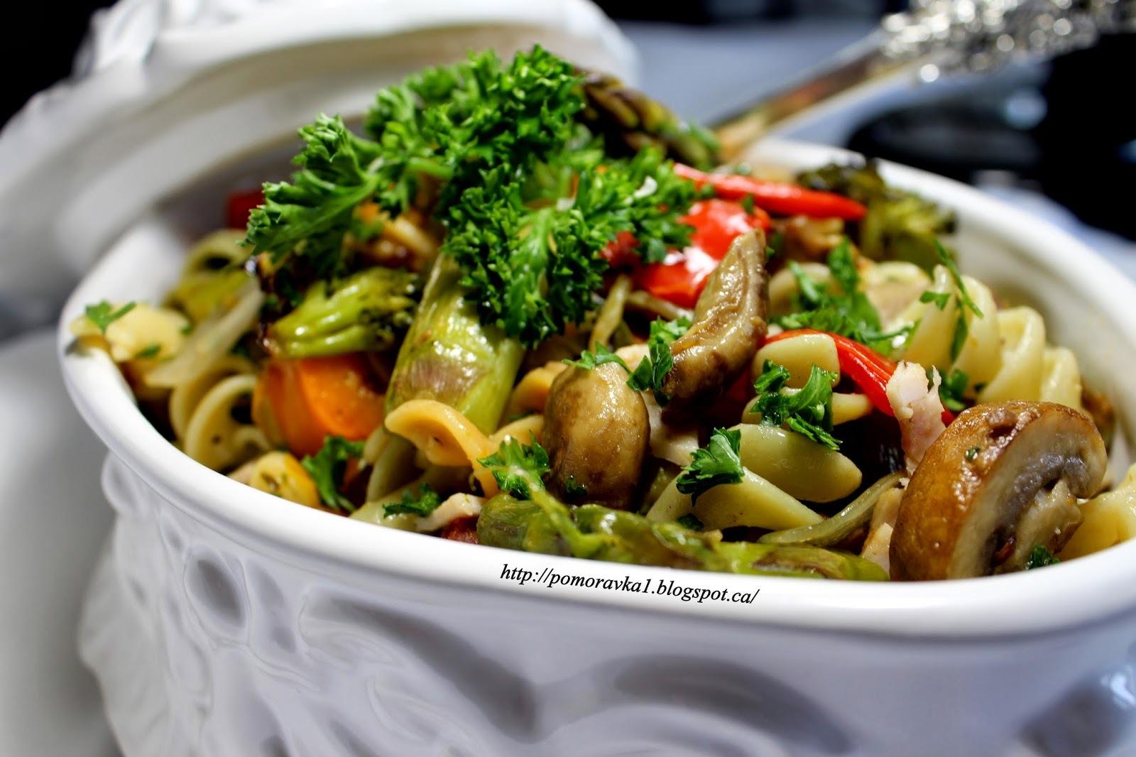 Pečeno povrće i pasta