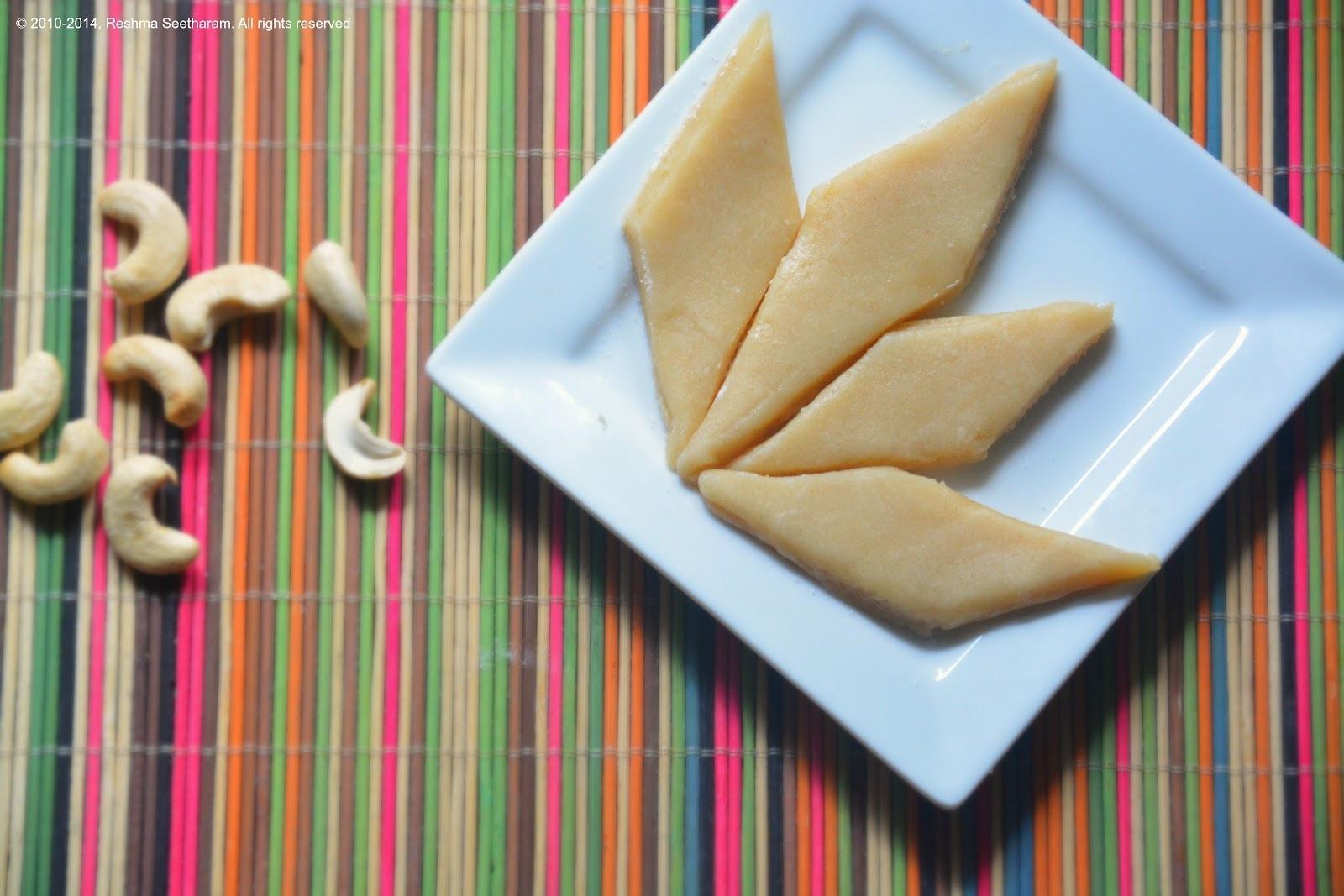 Cashew burfi - Kaju katli
