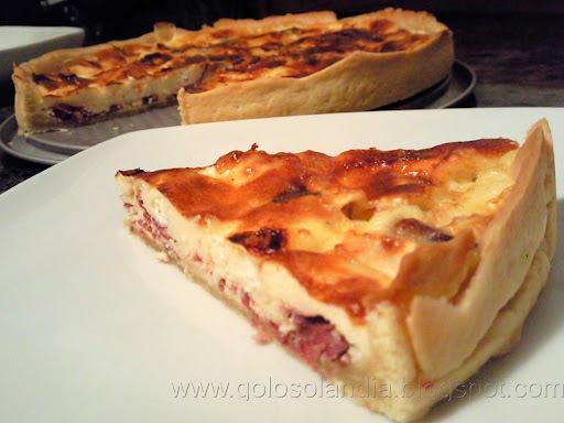 Quiche de cecina y queso de cabra (tarta salada)