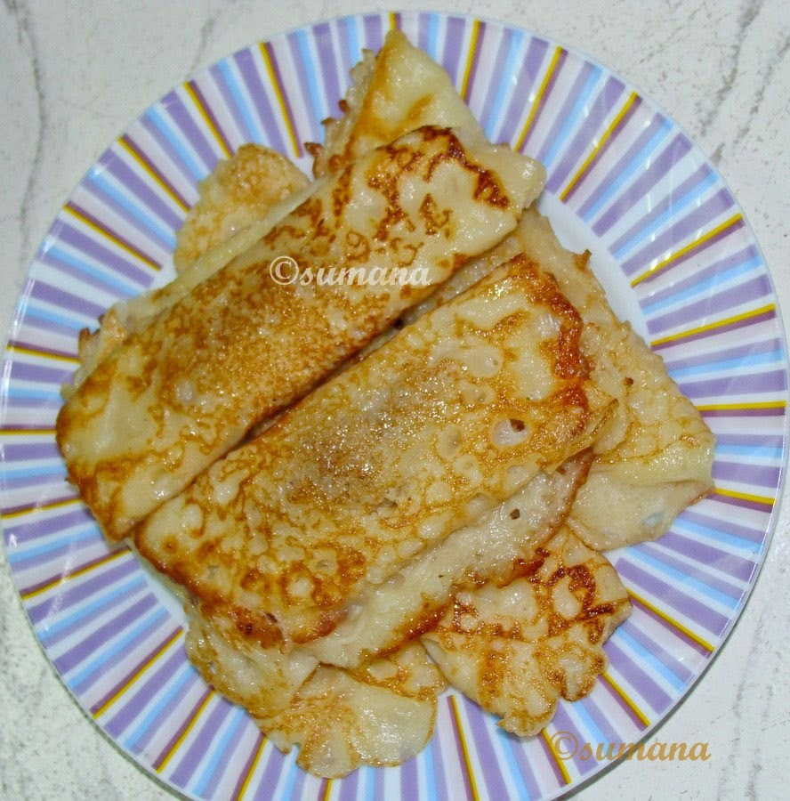 Patishapta - A Bengali Pancake With Coconut Stuffing
