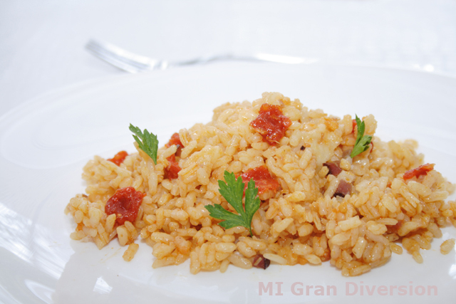 Risotto de Sobrasada y Bacon