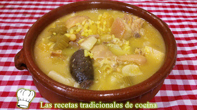Receta de Arros amb fesosl i nap o Caldera