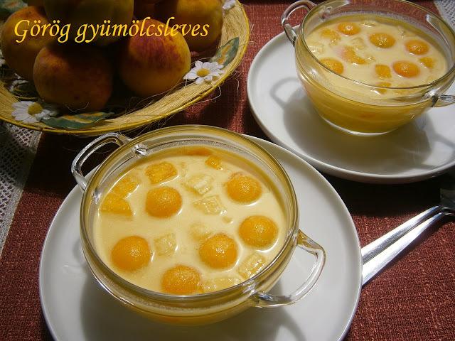 Görög gyümölcsleves