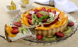 Torta Leve de Frutas