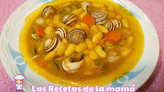 Receta de alubias con caracoles