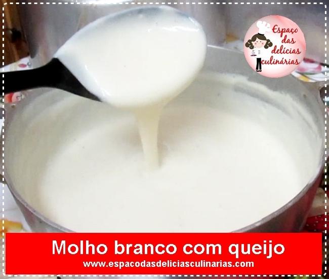 Molho branco com queijo