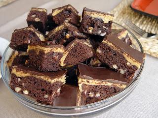 Barrinhas de Brownie Recheado