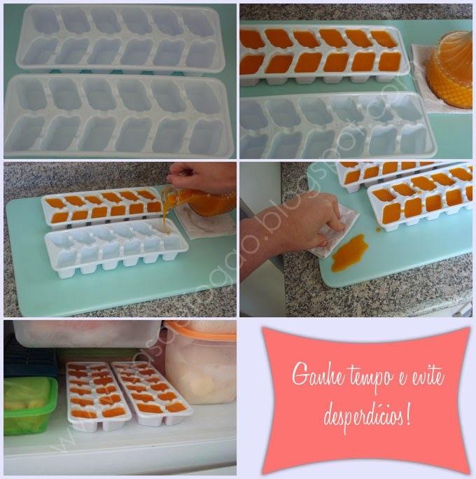 como fazer suco com polpa congelada
