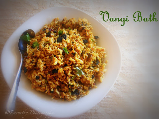 Vangi Bath - Brinjal Rice