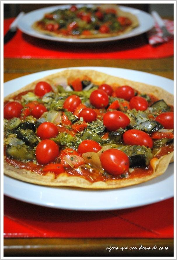 para comer sem culpa: pizza vegana de berinjela