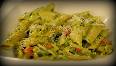 Veg Pasta in Creamy Spinach Sauce