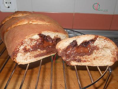 Pan de canela con chocolate