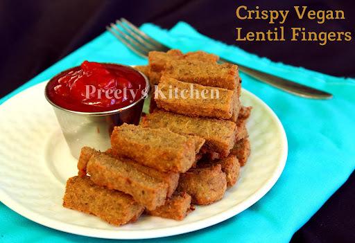 Crispy Vegan Lentil Fingers / Moong Dal Ke Pakode ( Step By Step Pictures)