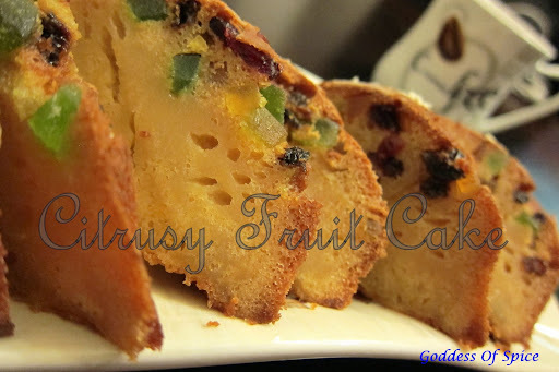 Citrusy Fruit Cake