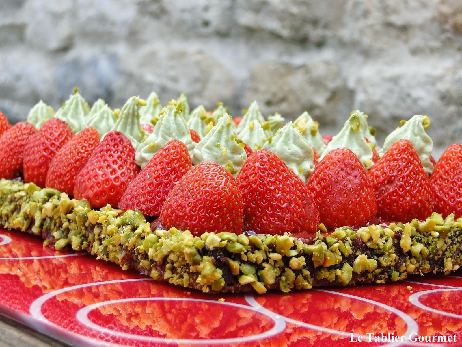 La tarte fraises et pistache de Christophe Michalak : la gourmandise à l'état pur