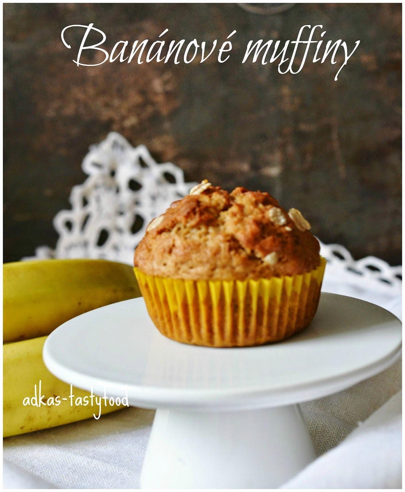 Banánové muffiny s ovsenými vločkami