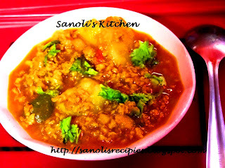 VEGETARIAN KEEMA (SOYA GRANULES) CURRY