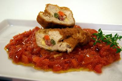 Peito de Frango Recheado com Legumes e Bacon