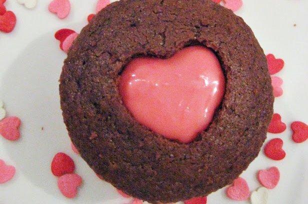 Cupcake para comemorar o Valentine's Day