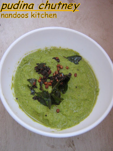 Mint chutney / Pudina chutney / side dish for idly or dosa / Pudina chutney with coconut