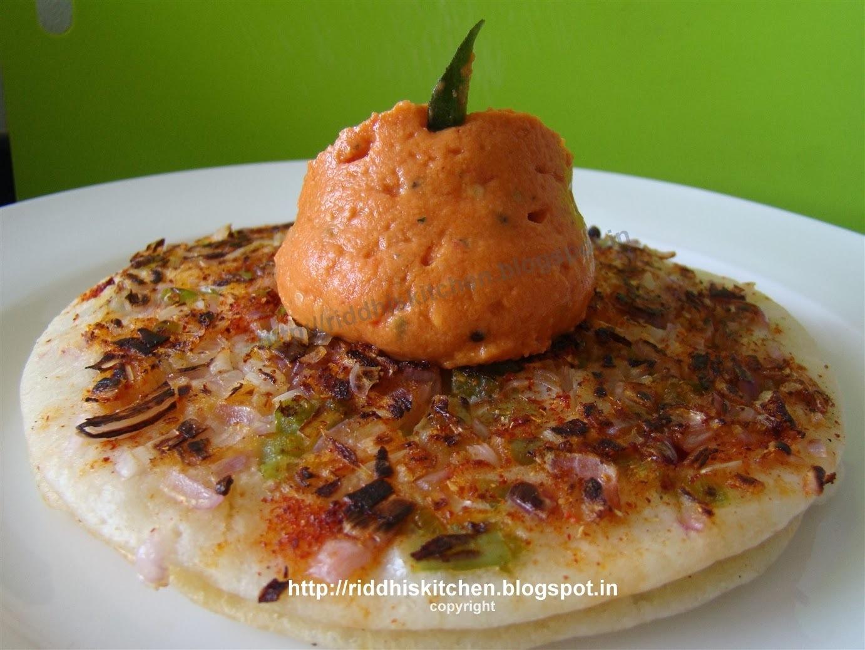 Onion Capsicum Uttapam